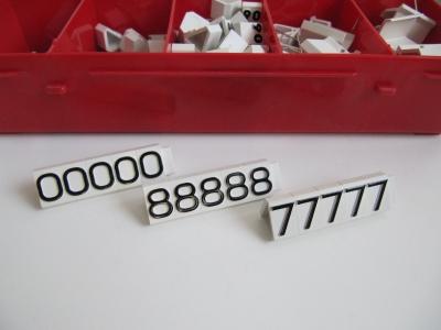 Preisziffern MAXI Compact weiß/schwarz 1314