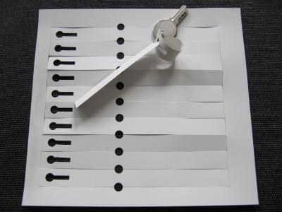Schlaufenetiketten PVC-Weiß