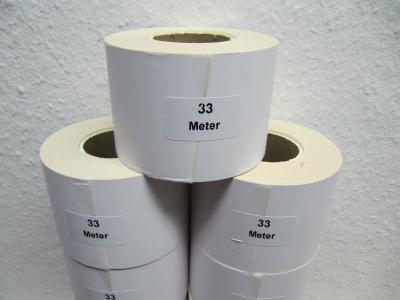 Thermoetiketten endlos für Kassenwaagen selbstklebend 6 cm x 33 m