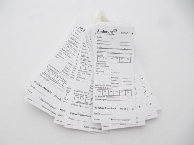 Änderungskarten mit Baumwollfaden